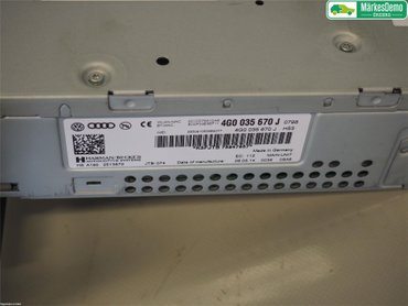 Radio CD / Multimediapanel - Audi A6, S6 -14 4G0035670J - 4G0035670J