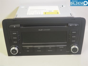 Radio / Stereo - Audi A3, S3 -11 8P0057186SX 7649276380 8P0035186S