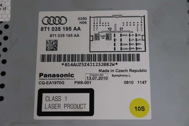 Radio CD / Multimediapanel - Audi A5 -11 8T1057194A - 8T1035195AA