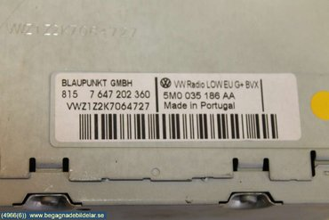 Radio CD / Multimediapanel - VW Transporter/Caravelle -10 5M0057187AX 8157647202360 5M0035186AA