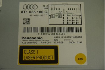 Radio CD / Multimediapanel - Audi A5 -09 014AUZ5Z6H1066406 -