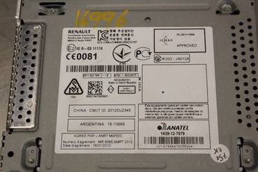 Radio CD / Multimediapanel - Renault Megane -14 1610669 10R0311174