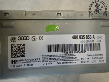 Radio CD / Multimediapanel - Audi A7 -11 4H0919475H - 4H0919475H