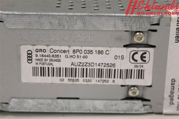 Radio CD / Multimediapanel - Audi A3, S3 -05 8P0035186C 9.18440-8351