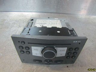 Radio CD / Multimediapanel - Opel Astra -05 93183878 453116246 BLAUPUNKT 13188463