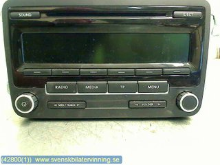 Radio CD / Multimediapanel - VW Passat -12 1k0057186an 28285850 DELPHI 1K0035186AN