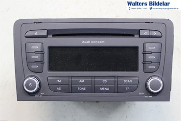 Radio CD / Multimediapanel - Audi A3, S3 -13   8P0035186AB