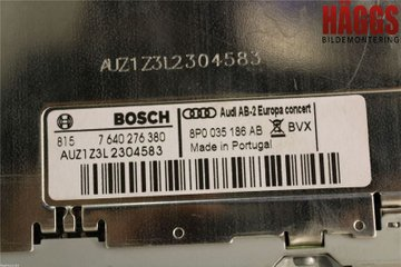 Radio CD / Multimediapanel - Audi A3, S3 -11 8P0057185B  8P0035186AB