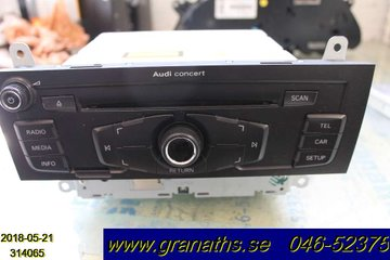 Radio CD / Multimediapanel - Audi A4, S4 -09  8T1035186C