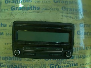 Radio CD / Multimediapanel - VW Golf, e-Golf -11 BP7647201360 1K0035186AA