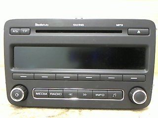 Radio CD / Multimediapanel - Skoda Fabia -11 5J0035161C DE2-633