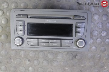 Radio CD / Multimediapanel - Audi A3, S3 -13 8P0057185BX  8P0035186AB