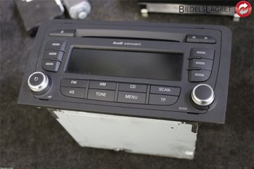 Radio CD / Multimediapanel - Audi A3, S3 -13   8P0 057 185 BX   8P0035186AB