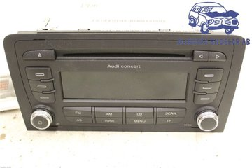 Radio CD / Multimediapanel - Audi A3, S3 -08   8P0035186GX