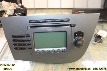 Radio CD / Multimediapanel - Seat Leon -08  1P1035186BN87