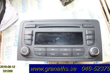 Radio CD / Multimediapanel - Audi A3, S3 -07 8157647253680 8P0035186GX