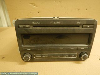 Radio CD / Multimediapanel - Skoda Roomster -10  5J0035161C