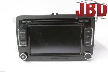 Radio CD / Multimediapanel - VW Passat -09 3C8057195X  3C8035195