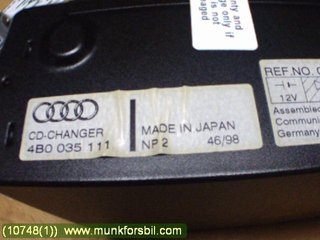 Radio CD / Multimediapanel - Audi A8, S8 -99  4B0035111 VAG