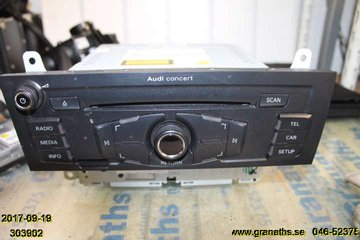 Radio CD / Multimediapanel - Audi A4, S4 -09  8T1035186P