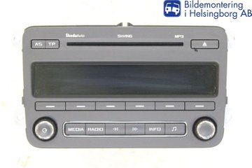 Radio CD / Multimediapanel - Skoda Fabia -12 5J0035161D