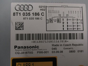 Radio CD / Multimediapanel - Audi A4, S4 -09 8T1057186CX CQ-JA1870G 8T1035186C