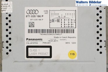 Radio CD / Multimediapanel - Audi A5 -11 8T1057186PX - 8T1035186P