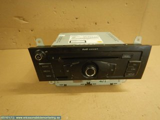 Radio CD / Multimediapanel - Audi A4, S4 -12  8T1035186P